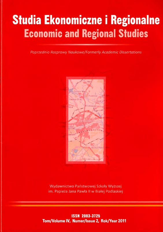 "Carátula de Revista ""Economic and Regional Studies"""