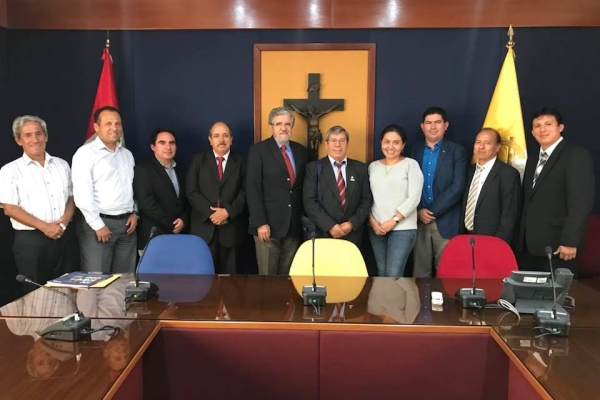 President of UNTRM meets with Academic Vice-President of the Pontificia Universidad Católica del Perú